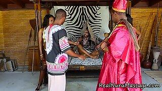 Nubian masseuse cum mouth