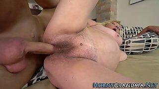 Hairy grandma gets nailed