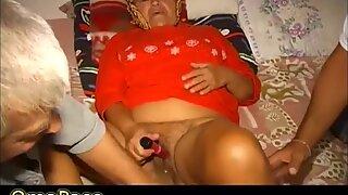 OMAPASS granny and senior threesome
