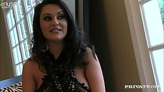 Indian hussy Charly Chase has her pussy stimulated with beads