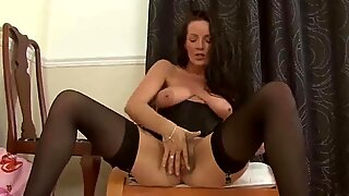 Hot Cougar Marlyn Pleasures Her Hairy Pussy by Dracarys69