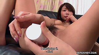 Two cute japanese tasty hearts have fun with a sex toy
