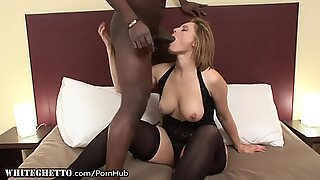 curvaceous Matures furry pussy Stuffed with Black Dick