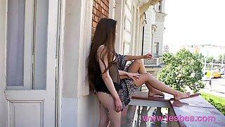 Lesbea Glamorous Euro lesbians in lingerie fingering