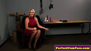 Cum addicted blonde milf