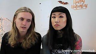 Wild Tattooed inexperienced duo in xxx Action