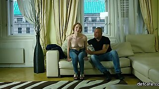 Flawless cutie honey has sex for the first time on camera  - Honey Lovely